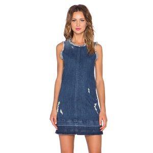 JBrand Distressed Denim Dress, sz. S